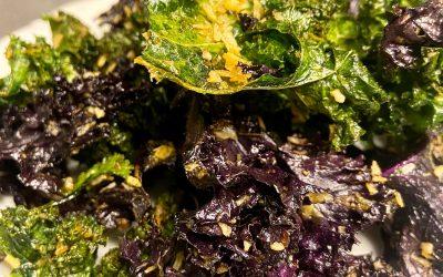 Recette de chips de chou kale à la noix de coco